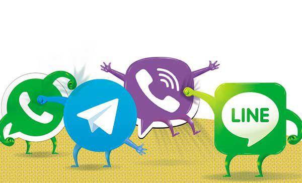 تلگرام-واتس آپ-وایبر