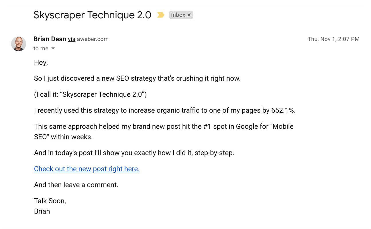 نمونه ایمیل خودمانی