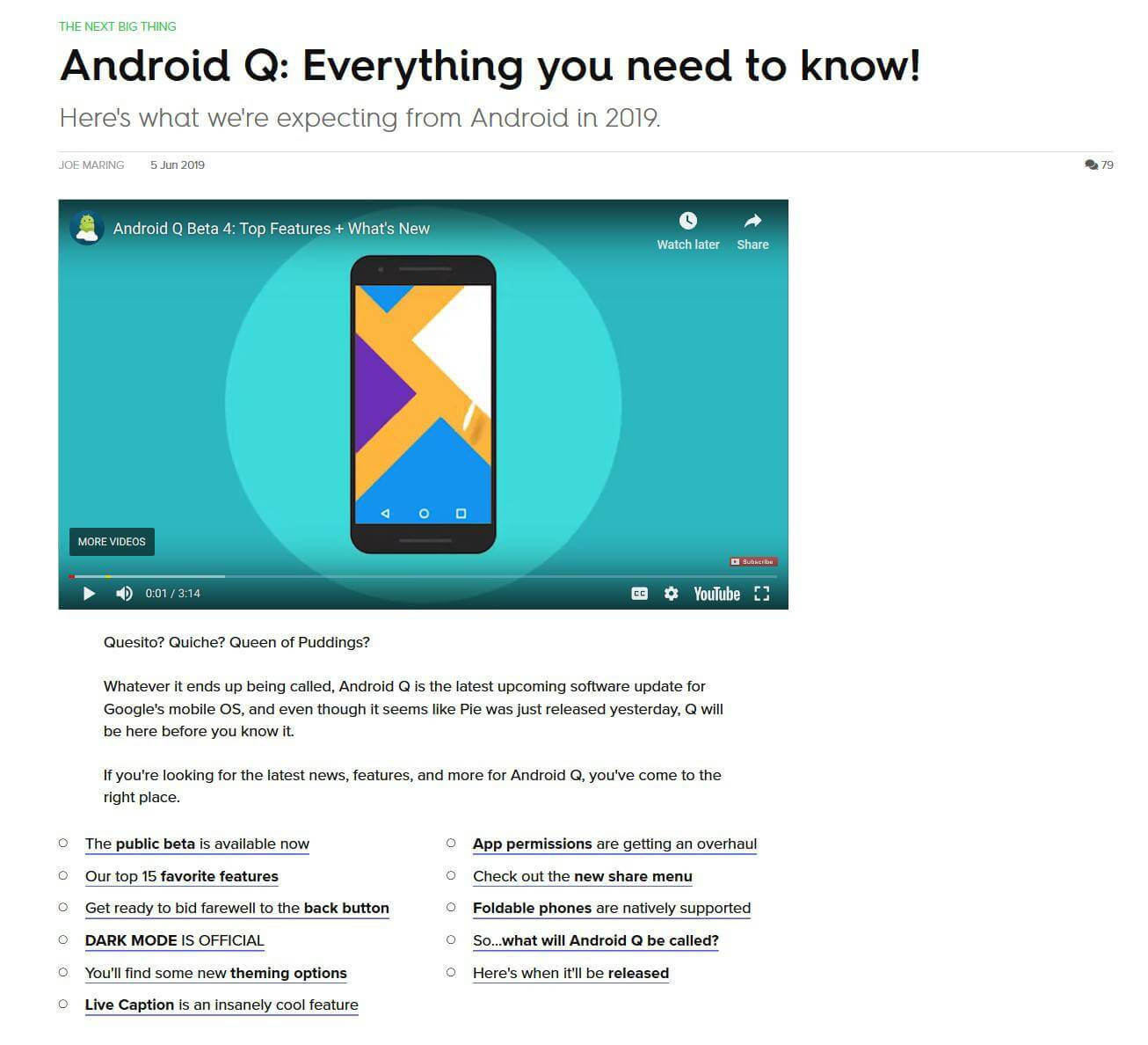 نمونه گردآوری مطالب هفتگی یا موضوعی از وب سایت Android Central