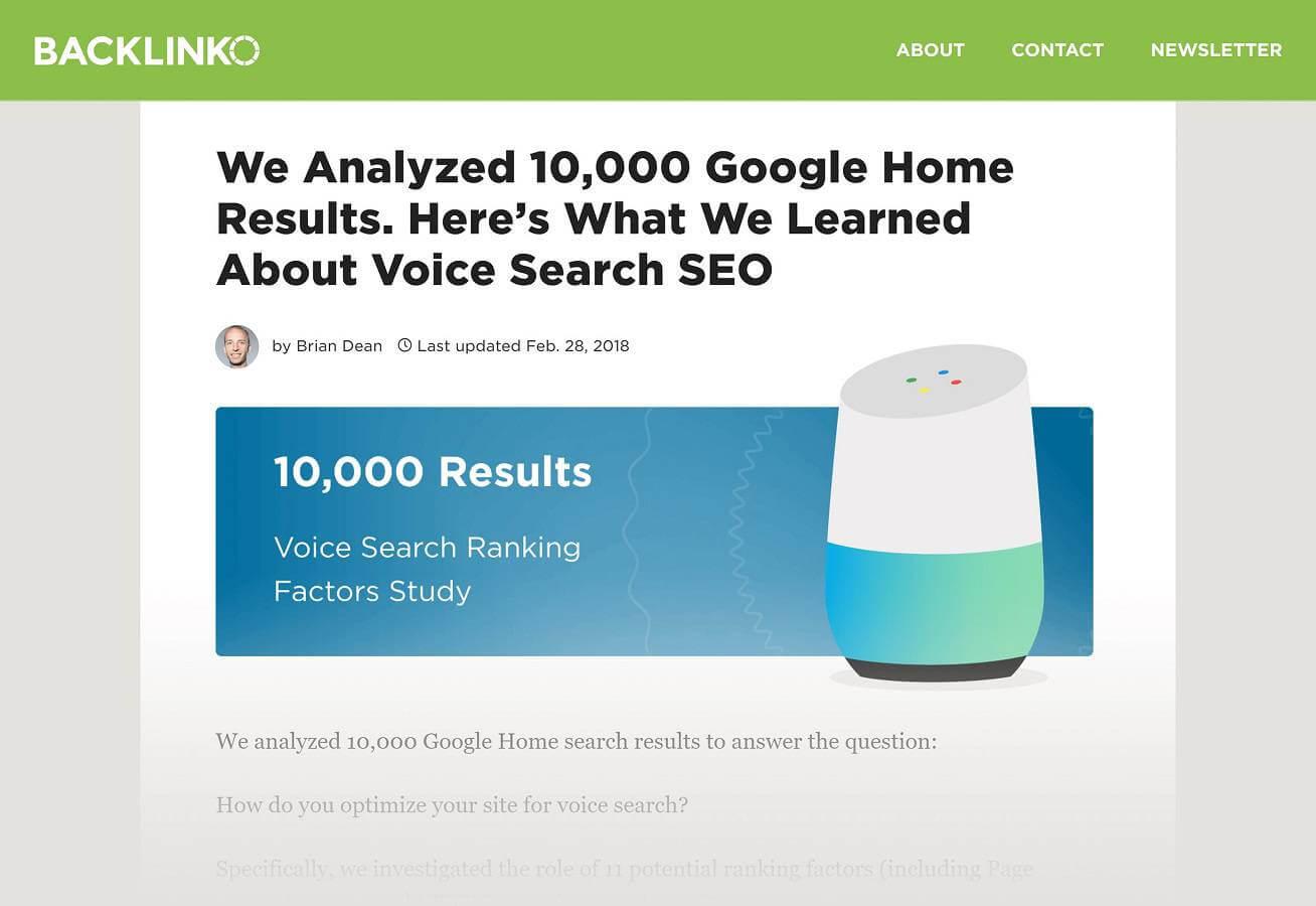 تحقیقی در رابطه با سئو در جستجوی صوتی که با هدف افزایش بک لینک صورت گرفت