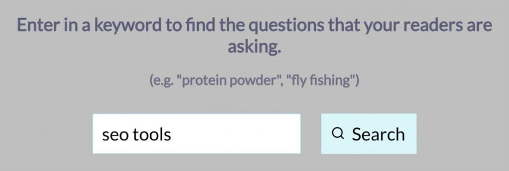 ابزار Question DB برای انتخاب موضوع تولید محتوا