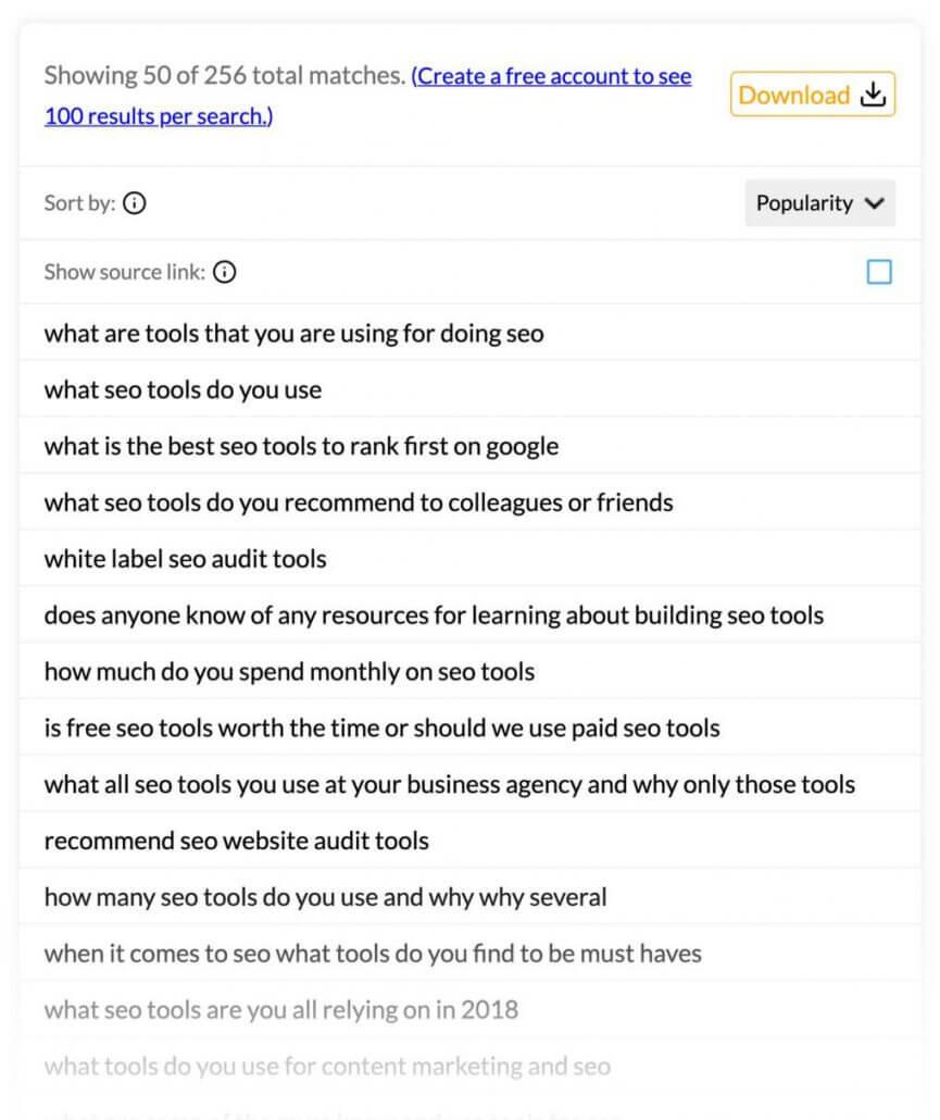 نتایج پیشنهادی Question DB
