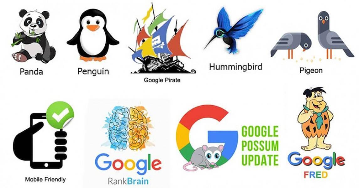 آپدیت های الگوریتم گوگل
