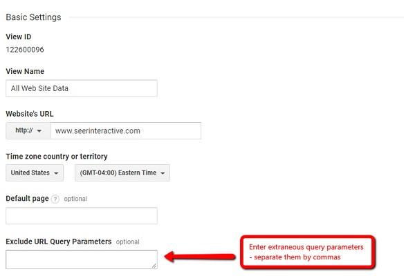 اشتباهات گوگل آنالیتیکس-پارامترهای url