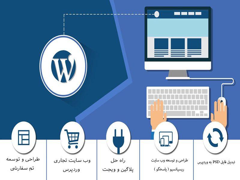 توسعه وب سایت با ورد پرس